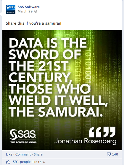 SAS Software - Facebook Image