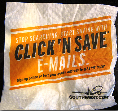 email marketing napkin campaign