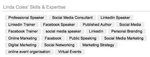 public profile skills