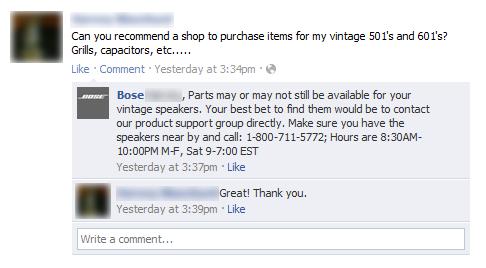 bose customer service