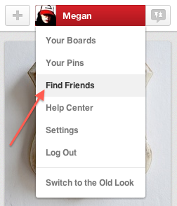 Finding Friends on Pinterest