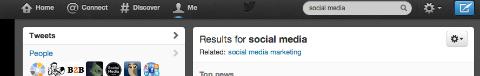 Twitter Search Field