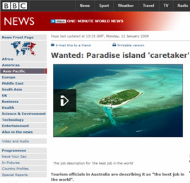 Wanted Paradise Island Caretaker