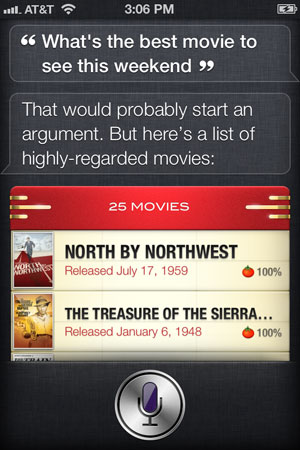 Siri Weekend Movies Example