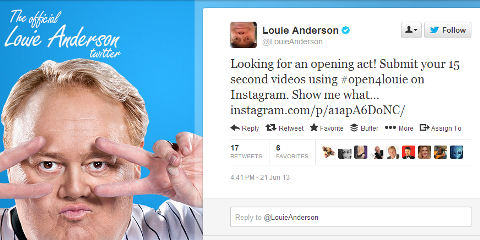 louie anderson invitation
